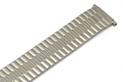 SPEIDEL 16-21MM SILVER TWIST O FLEX STRETCH EXPANSION WATCH BAND STRAP