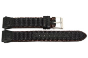 18MM LEATHER NYLON BLACK BROWN FS WATCH BAND FITS IRONMAN EXPEDITION