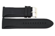 BLACK 26MM JELLY RUBBER SILICONE HIGH QUALITY SPORT WATCH BAND FITS DIESEL