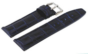 Rev #ITAL181-222 Men's 22mm Genuine Navy Blue Leather Quick Release Spring Bar Replacement Band