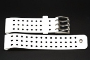 NIKE METTLE DRILL WHITE REPLACEMENT RUBBER WATCH BAND