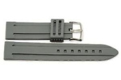 24MM grey RUBBER SILICONE SPORT JELLY WATCH STRAP BAND FITS BULOVA