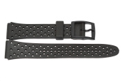 18MM BLACK HARD RUBBER SPORT WATCH BAND