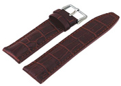 Rev #ITAL181-322 Men's 22mm Genuine Brown Leather Quick Release Spring Bar Replacement Band
