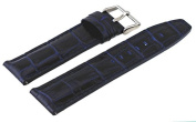 Rev #ITAL181-220 Men's 20mm Genuine Navy Blue Leather Quick Release Spring Bar Replacement Band