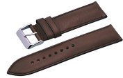 Rev #ITAL337 24mm Brown Padded Smooth Backing Genuine Leather Replacement Strap