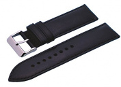 Rev #ITAL337 20mm Black Padded Smooth Backing Genuine Leather Replacement Strap