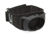 NIKE AMBIENT REFRESH BLACK REPLACEMENT RUBBER WATCH BAND WAS003 001