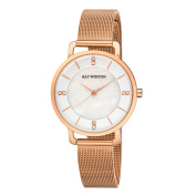 Ray Winton Women's WI0804 MOP Dial Rose Gold Stainless Steel Mesh Bracelet Watch