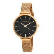 Ray Winton Women's WI0813 Black Dial Rose Gold Steel Mesh Bracelet Watch