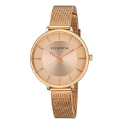 Ray Winton Women's WI0814 Champagne Dial Rose Gold Steel Mesh Bracelet Watch