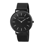 Ray-Winton Men's WI0205 Black Dial Black Stainless Steel Mesh Bracelet Watch