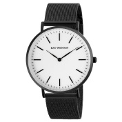 Ray-Winton Men's WI0207 White Dial Black Stainless Steel Mesh Bracelet Watch
