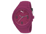 Puma PU103592004 Women's Gummy Pink Rubber Bracelet With Pink Analogue Dial Watch