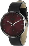 Unisex Black Vestal Roosevelt Leather Strap Watch ROS3L004