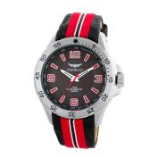 Vernier Gianello Racing Stripe Grosgrain Strap Sport Watch