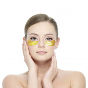 KISSION 10 Pair 24k Collages Crystal Golden Eye Mask, Moisturising Anti Wrinkle Eye Mask Against Black Eye and Wrinkles