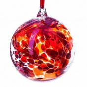 Glass Friendship Ball 10cm Red