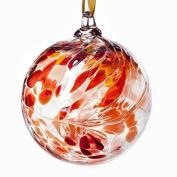 Glass Friendship Ball 12cm Red