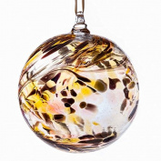 Glass Friendship Ball 10cm Gold Coloured