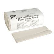 PAPSTAR Towel Wrap 31 x 25 cm, 180 Sheets Natural C Fold Hand Towels, 1 Ply, # 84821