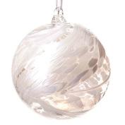 Glass Friendship Ball 12cm White