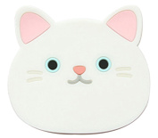 Peach Bus in Downtown Cup Pad Cute Cartoon Cat Coffee Drink Cup Placemat Beverage Pot Pan Holder Pad Kitchen Supplies