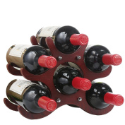 Z & YQWooden Wine rack Creative living room Decoration modern Wine rack
