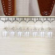 Hanging Mounted Metal Wine Rack,European Iron Wine Glass Hanging Rack & Goblet Holder
