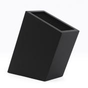 GZD Knife Block Group tool holder, PP/TPR/MDF tilt-type trapezoidal square bucket multi-use tool holder, black knife box