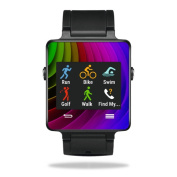 MightySkins Protective Vinyl Skin Decal for Garmin Vivoactive Smartwatch cover wrap sticker skins Colour Wheel