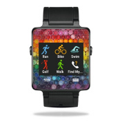 MightySkins Protective Vinyl Skin Decal for Garmin Vivoactive Smartwatch cover wrap sticker skins Colour Me
