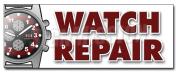 120cm WATCH REPAIR DECAL sticker batteries jewellery gems bands appraisals