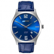 ArmourLite Isobrite Grand Slimline Series - Blue Dial - Blue Leather Strap