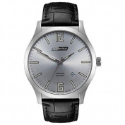 ArmourLite Isobrite Grand Slimline Series - Stainless - Leather Strap - Date