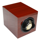 Single Cherry Wood Rosewood Automatic Watch Winder & Storage Case