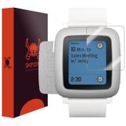 Skinomi TechSkin - Brushed Aluminium Skin & Screen Protector for Pebble Time