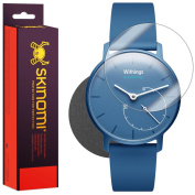 Skinomi Brushed Steel Skin & Screen Protector for Withings Activit� Pop
