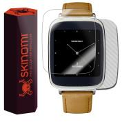 Skinomi TechSkin - Silver Carbon Fibre Skin & Screen Protector for Asus Zenwatch