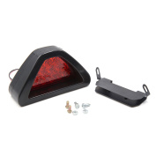 DC 12V Red Flashing Lamp Black Triangle Shell Safety Warning Light for Auto Car