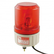 Unique Bargains Unique Bargains DC 24V Industrial Signal Tower Red Rotating Sound Alarm Light