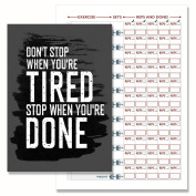 Gym Diary, Weight Training Diary Log Book, A5 Daily Workout Diary, Bodybuilding Log 104