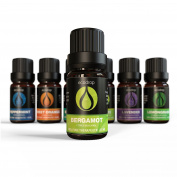 Bergamot Essential Oil, 100% Pure, Best Therapeutic Grade for Aromatherapy, Massage, Diffusers & Bath - 10ml, . Included