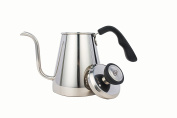 Meelio Pour Over Coffee Kettle and Tea Kettle 1L - Stainless Steel 18/8 Drip Kettle with Precision Gooseneck Spout for Home Brewing, Camping and Travelling