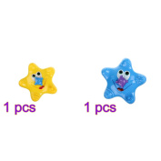 lulalula lulalula Baby Floating Bathtub Shower Toy Beach Starfish Toys Electronic Starfish Sprinkler Spray Rotating Fountain Toys 2Pcs