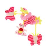 MagiDeal Kids Baby Crib Pram Hanging Spiral Toys Soft Developmental Toy Infant Xmas Christmas Gift - 3, 30-60cm 0.3m - 0.6m