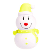 TAOtTAO 12cm Christmas Snowman Cream Scented Squishy Slow Rising Squeeze Toy Phone Charm