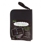 Marker Case Empty Holds 48 Writing Utensils Black With Zip