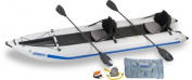Sea Eagle 435ps PaddleSki Inflatable Catamaran Kayak Pro Carbon Package