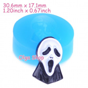 J252 Silicone Fimo Mould Mould Halloween Fantome